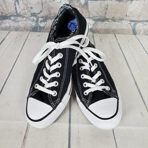 Converse All Star Low Oxford Canvas Black Sz 7.5